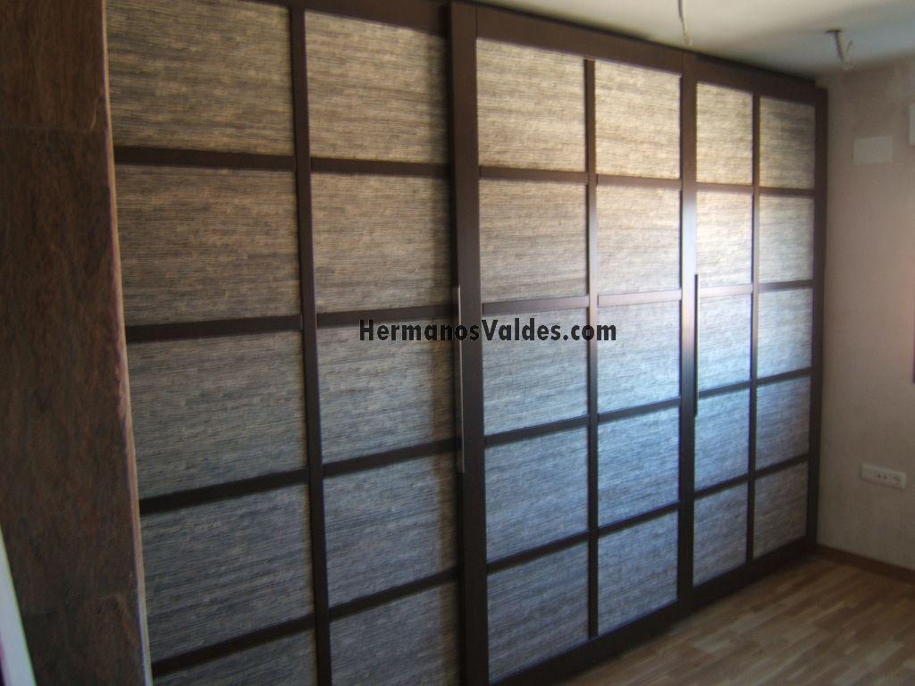 armario empotrado puertas correderas japonesas con plafnes en tela